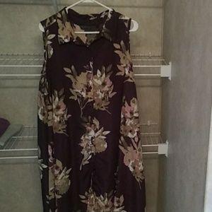Floral high low dress